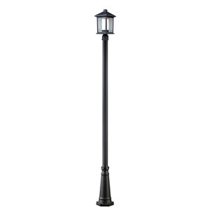 Mesa One-Light Black Outdoor Post Light
