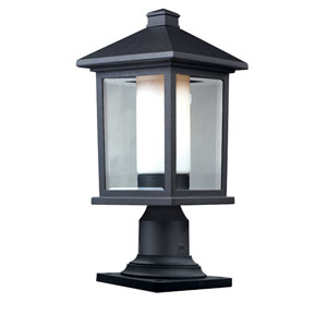 Mesa One-Light Black Outdoor Pier Mount