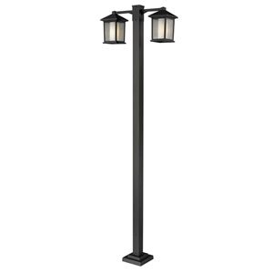 Mesa Two-Light Oil Rubbed Bronze Double-Head Outdoor Post Light
