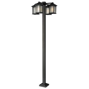 Mesa Four-Light Oil Rubbed Bronze Four-Head Outdoor Post Light