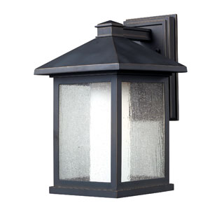 Mesa Oil Rubbed Bronze One-Light 16-Inch Outdoor Wall Mount