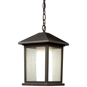 Mesa Oil Rubbed Bronze One-Light Outdoor Chain Hung Pendant