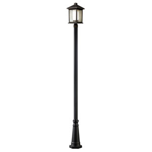 Mesa One-Light Oil Rubbed Bronze Tall Outdoor Post Light