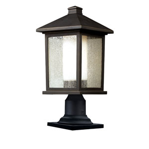 Mesa One-Light Large Oil Rubbed Bronze Outdoor Pier Mount Light