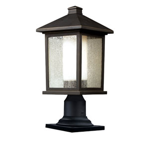 Mesa One-Light Oil Rubbed Bronze Outdoor Pier Mount Light