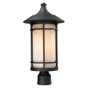 Woodland Black Outdoor Post Light