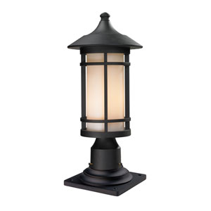 Woodland Black Outdoor Pier Mount Light