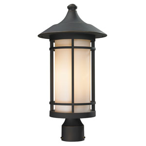 Woodland Oil Rubbed Bronze Outdoor Post Light