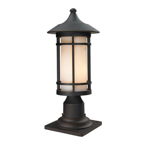 Woodland Oil Rubbed Bronze Outdoor Pier Mount Light