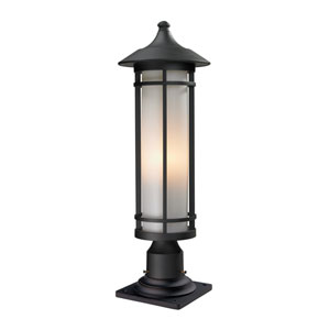 Woodland Black Outdoor Pier Mount Light