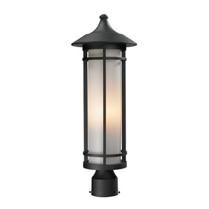 Woodland Black Outdoor Post Light