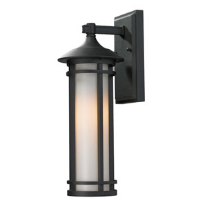 Woodland Black Outdoor Wall Light
