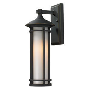 Woodland Oil Rubbed Bronze Outdoor Wall Light