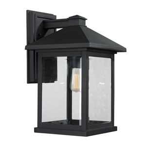 Portland Black 16-Inch One-Light Outdoor Wall Light