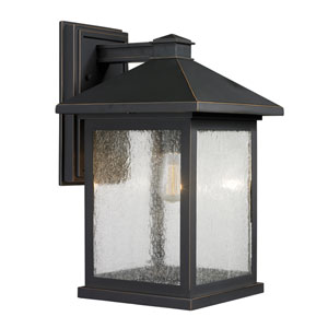 Portland Oil Rubbed Bronze 16-Inch One-Light Outdoor Wall Light