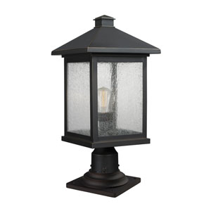 Portland Oil Rubbed Bronze 20-Inch One-Light Outdoor Pier Mount Light