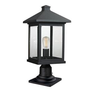 Portland Black 20-Inch One-Light Outdoor Pier Mount
