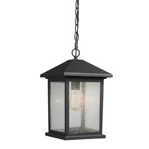 Portland Oil Rubbed Bronze 14-Inch One-Light Outdoor Hanging Light
