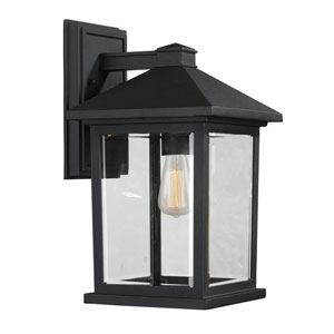 Portland Black 14-Inch One-Light Outdoor Wall Light