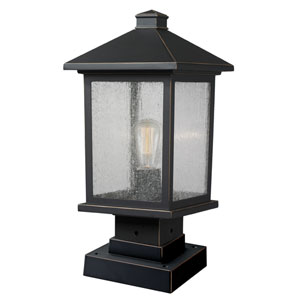 Portland Oil Rubbed Bronze 17-Inch One-Light Outdoor Pier Mount Light