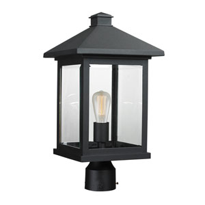 Portland Black 19-Inch One-Light Post Mount Light