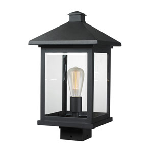 Portland Black 17-Inch One-Light Post Mount Light
