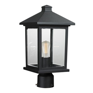 Portland Black 16-Inch One-Light Post Mount Light