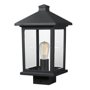 Portland Black 14-Inch One-Light Post Mount Light