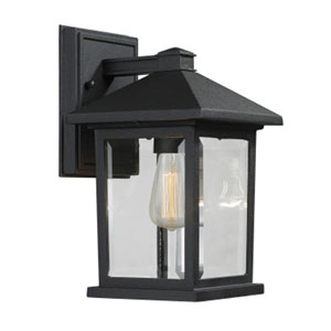 Portland Black 10-Inch One-Light Outdoor Wall Light