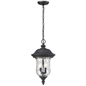 Armstrong Two-Light Black Outdoor Chain Pendant Light