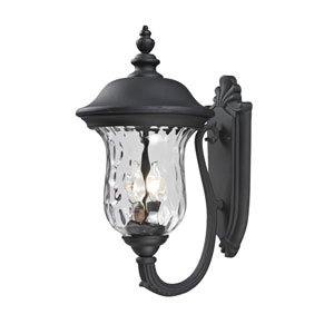 Armstrong Two-Light Black Outdoor Wall Light