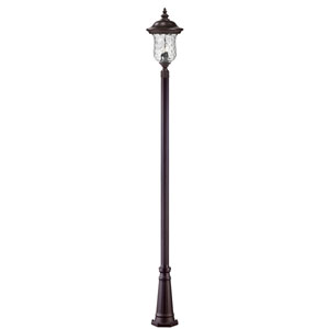Armstrong Three-Light Rubbed Bronze Large Outdoor Post Light