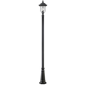 Armstrong Two-Light Black Medium Outdoor Post Light