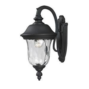 Armstrong One-Light Black Outdoor Wall Light