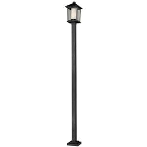 Mesa One-Light Large Black Outdoor Post Light