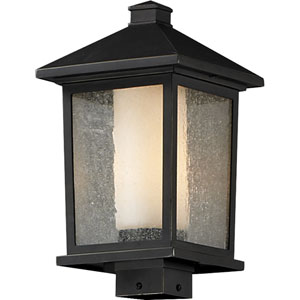Mesa One-Light Large Oil Rubbed Bronze Outdoor Post Mount Light