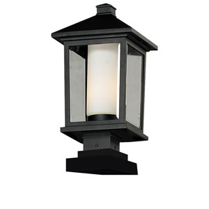 Mesa One-Light Large Black Outdoor Pier Light