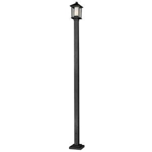 Mesa One-Light Medium Black Outdoor Post Light