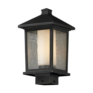Mesa One-Light Medium Oil Rubbed Bronze Outdoor Post Mount Light