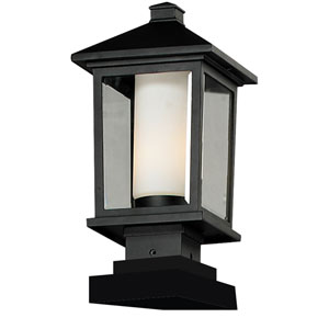Mesa One-Light Medium Black Outdoor Pier Mount
