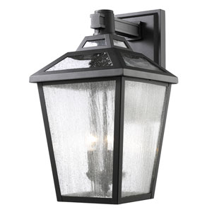 Bayland Black Eleven-Inch Outdoor Wall Sconce