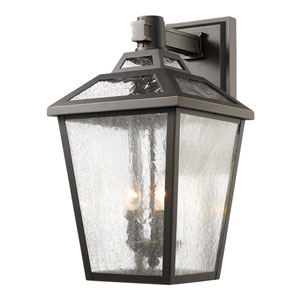 Bayland Oil Rubbed Bronze Eleven-Inch Outdoor Wall Sconce