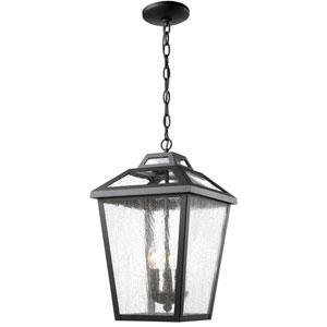 Bayland Black Three-Light Eleven-Inch Outdoor Pendant