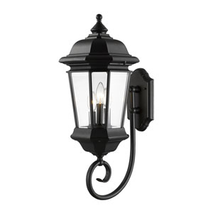 Melbourne Black Thirteen-Inch Outdoor Wall Sconce