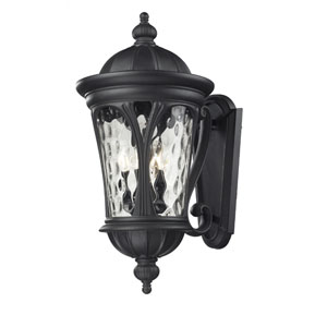 Doma Five-Light Black Outdoor Wall Mount with Clear Waterglass