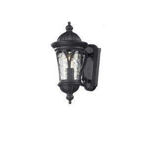 Doma One-Light Black Outdoor Wall Mount with Clear Waterglass