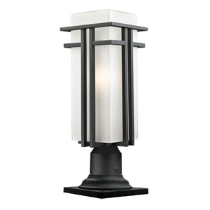 Abbey Black Outdoor Pier Mount Light