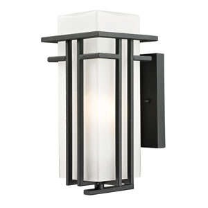 Abbey Black Outdoor Wall Light