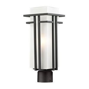 Abbey Outdoor Rubbed Bronze Outdoor Post Light