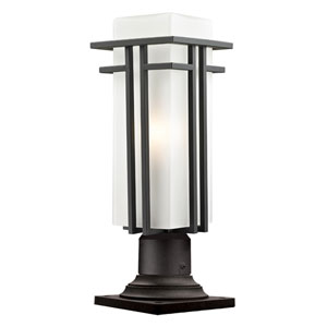 Abbey Outdoor Rubbed Bronze Outdoor Pier Mount Light